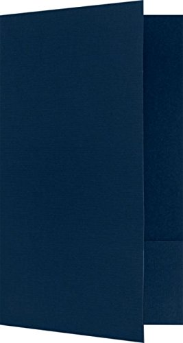 "Legal Size Folders - Standard Two Pockets - Blue Linen - Pack of 25 | Perfect for Holding Legal Size 8 1/2"" x 14"" Paper and documents 