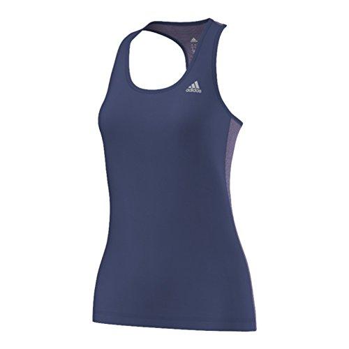 adidas Performance Women's Clima Studio Mesh Back Tank Top, Raw Purple/Purple Glow, X-Large