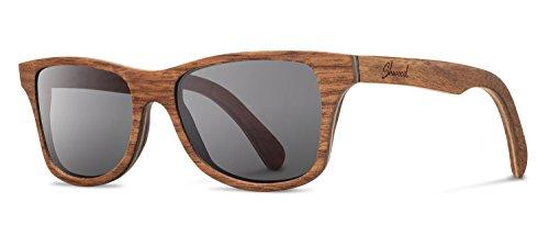 Shwood - Canby Wood, The Original Wood Sunglasses, Walnut, Grey Polarized - Shwood Sunglasses Wooden