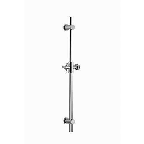 SUMERAIN Round All Brass Hand Shower Slide Bar with Height&Adjustable Bracket Holder Chrome Finish Brass Shower Slide Bar