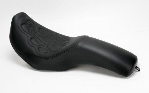 10-17 HARLEY FXDWG: Saddlemen Profiler Tattoo Seat (BLACK STITCHED FLAME)