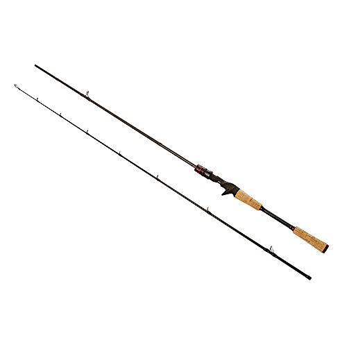 Noeby Baitcasting Fishing Rod Lightweight 2 Section Portable Fishing Rod Fast-Action Graphite Pole with Carbon Fiber Blanks for Freshwater Bass (7'6