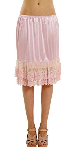 Lace Slip Half Slip - Double lace Satin Half Slip Skirt Extender -21