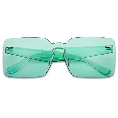 Mint Green Sunglasses - Colorful Bold Oversize One Piece Mono