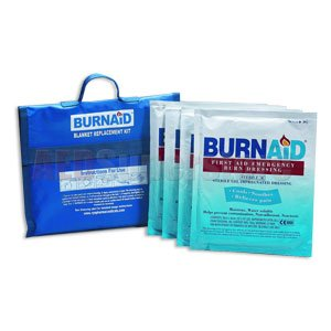 Burnaid burn blanket kit- 4- 16 in. x22 in. burn dressings (equivalent to 5x7 blanket) in nylon- refilla