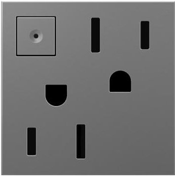adorne Magnesium 15A Energy-Saving On-Off Wall Outlet -