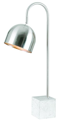 Kenroy Home Maverick Desk Lamp, Chrome Finish with White Mar