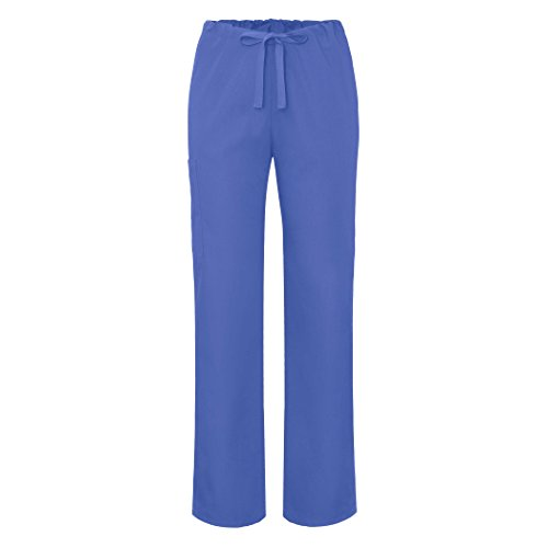 (Adar Universal Unisex Natural-Rise Drawstring Tapered Leg Pants - 504 - Ceil Blue - S)