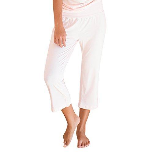 Faceplant Dreams Dreamwear Bamboo Capri Pants (Small, Pink)