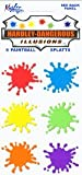 6 Paint Ball Splats Stickers