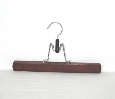 Deluxe Wood Trouser Clamps - Mahogany - Set of 30 by Space Savers