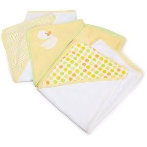 Spasilk 3 pack Soft Terry capucha Juego de toallas (Keep bebés seco y cálido de la cabeza a los pies) - amarillo bebé/niño/bebé/niño: Amazon.es: Bebé