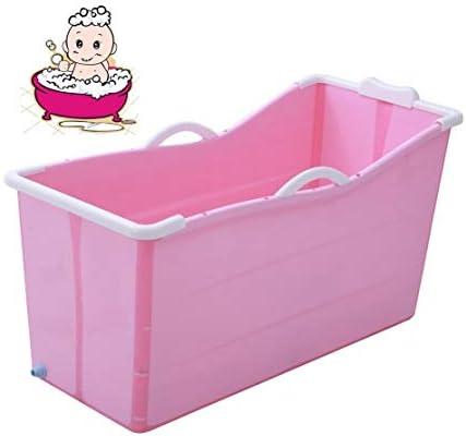 折りたたみバスタブ GYF バスタブ 折り畳み式バスタブ浴槽大人の子供用ベビープラスチックプール子供風呂バレル家庭用大型ポータブル浴槽 2色ベビー用 バスタブ (Color : Pink)