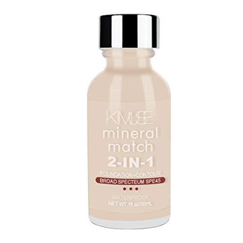 Fityle Base De Maquillaje Ligera Larga Duración Natural Para Total Piel Grasa - Blan