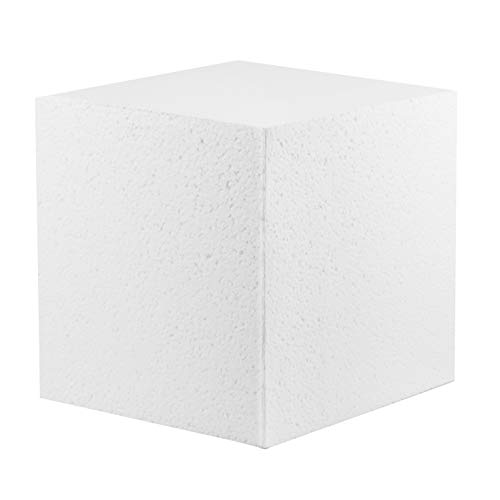 MT Products Hard Foam Blocks (2 Pack)   7 x 7 x 7 Inch Non-Squishy Craft Foam Cubes   Polystyrene Brick for Arts and Crafts, Sculptures, Floral Arrangements, Modeling, Centerpieces & More