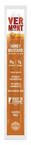 Sticks Salted Organic - Vermont Smoke & Cure Turkey Sticks, Antibiotic Free, Gluten Free, No Added Hormones, Low Calorie Snack, Paleo & Keto Friendly, Honey Mustard, 1oz Stick