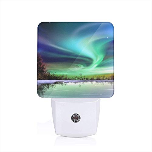 KMYUROOL Craft Decoration LED Table Lamp Northern Lights Aurora Borealis Button Portable Rechargeable LED Desk Lamp ()