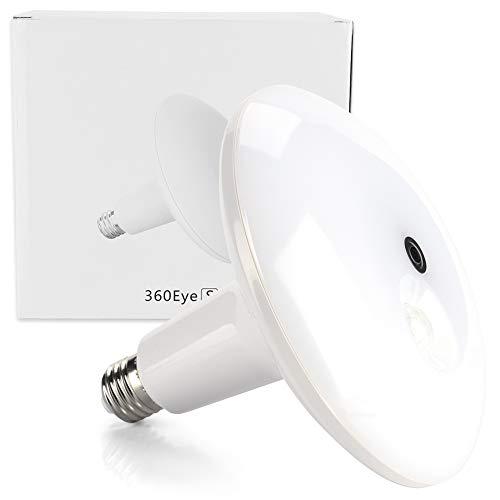 ASHATA Light Bulb Camera, 3.0MP WiFi Panoramic Lamp Bulb Monitoring Camera Wireless PIR Human Body Inductive Switch Lamp with HD Night Vision Function,Real-time Conversation Fisheye Lens Camera