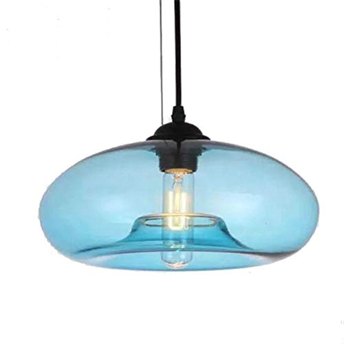 Scope 4 Light Pendant - Chandelier Pendant Lighting Blue Apple Shape Glass Drop Ceiling Lights Lamp Organic Contemporary Style Hanging Light Round Glass Shade 1 Lights Chandeliers for Living Room Dining Room Bar Fixtures