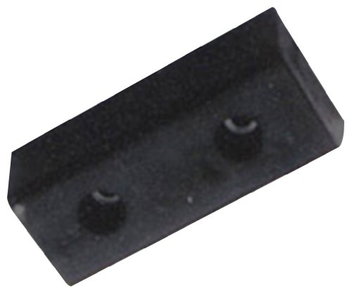Durable Corporation Rubber Molded Bumper, Rectangular, Horizontal Mount, 2 Holes, 10