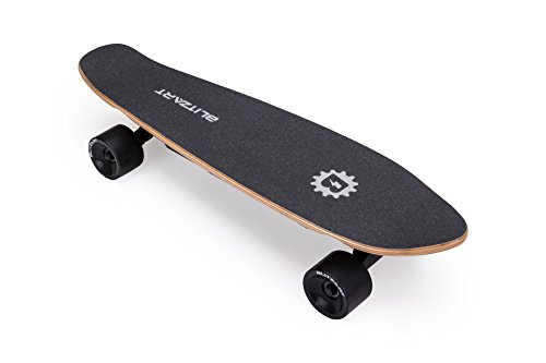 Blitzart Mini Flash 28' Electric Skateboard Electronic Hub-Motor 2.8' Wheel E-Skateboard (Black)