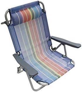 Homecall - Silla de playa plegable con respaldo ajustable (varios colores): Amazon.es: Jardín