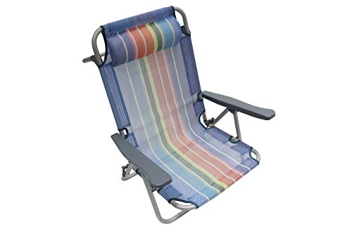 🥇 Homecall – Silla de playa plegable con respaldo ajustable