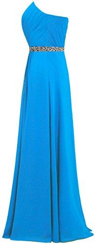 Fourmis Robes De Bal En Mousseline De Soie De Cristal De Femmes Longues Robes De Soirée Bleu
