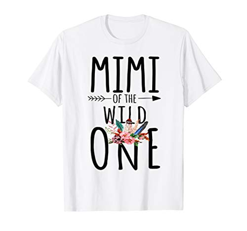 Mimi Of A Wild One Shirt Boho 1St Birthday Mimi Party Tee -