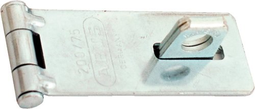 ABUS 200/75 C 3-Inch Hardened Steel Hasp, Silver