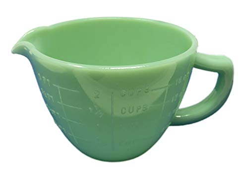 Jadeite Green Glass 2 Cup Capacity Measuring Cup Reproduction Depression Style Jadite ()