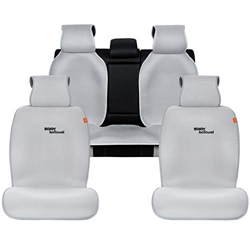 - Sojoy Four Seasons Universal Full Set of Car Seat Cushion Covers Advanced Material (Gray)