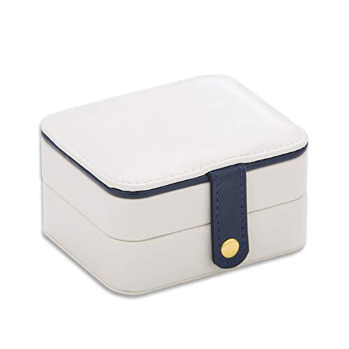ACE Bilon Jewelry Storage Box, Double Layer Large Capacity Portable PU Leather Jewelry Organizer with Mirror for Rings Necklace Earrings