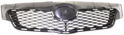 Evan-Fischer EVA17772047774 Grille Assembly Grill Plastic shell and insert Black (Toyota Corolla Grill 2009 compare prices)