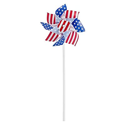 Rhode Island Novelty Stars and Stpes - Amecan Flag Pin Wheels - 12 Pack: Sports & Outdoors