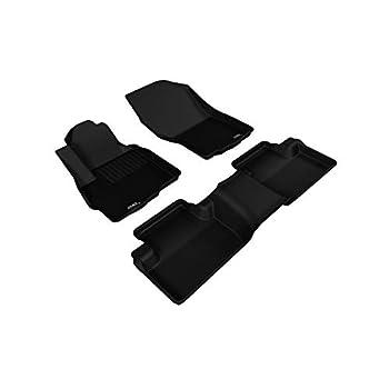 Image of 3D MAXpider All 2 Row Custom Fit Floor Mat for Select Mitsubishi Outlander Sport Models - Kagu Rubber (Black)
