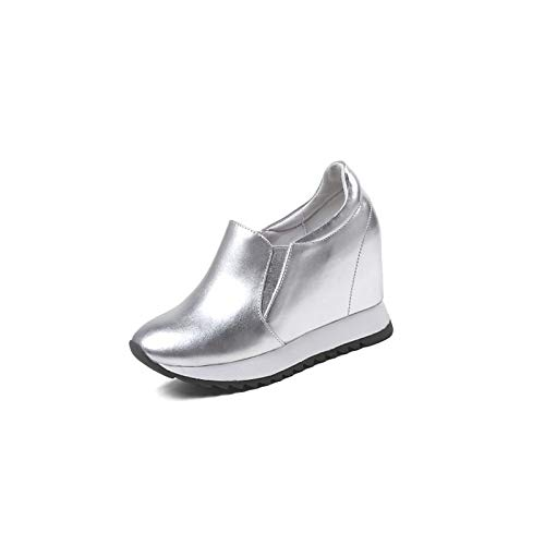 de Zapatos ZHZNVX Silver Plataforma Plata Blanco Nappa Sneakers Negro Mujer amp; Leather Spring Comfort Summer HAwwRqxd