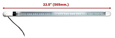 """TMH 18"""" 8w LED Light Bar Multi-Voltage 12v 24v DC Water resistant LED courtesy convenience under cabinet lamp with on/off switch"""