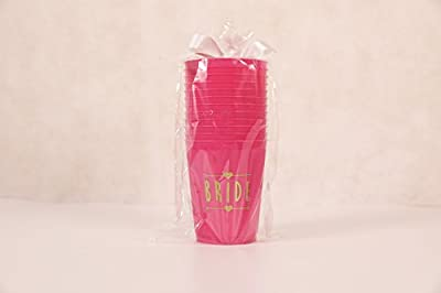 (12 Pack ) Bride and Bride Tribe Cups Pink - for Bachelorette, Bridal, & Hen Parties by ANF BRANDS