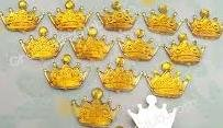 25 Baby Shower Gold Acrylic Crown Prince or Princess Party Favors -