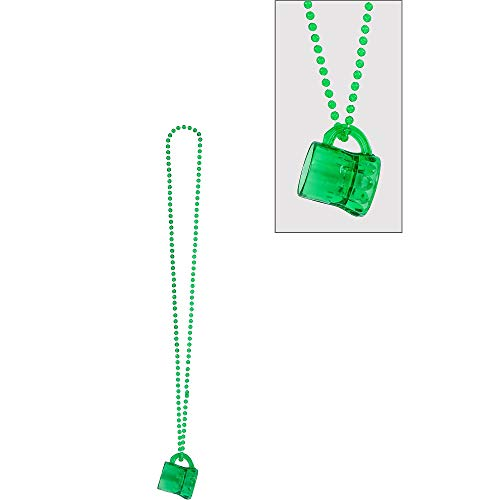 Amscan St. Patrick's Day Plastic Beer Mug Bead Necklace | Party Accessory