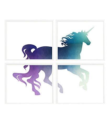 Amazon.com: Unicorn Decor, Girl Room Wall Art, Girl Print ...