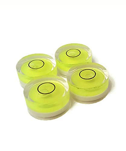 18mm x 9mm Circular Bubble Spirit Level BY GFNT for Tripod, Phonograph, Turntable Etc. (4 pack)