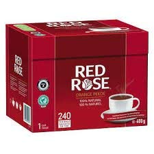 Red Rose Orange Pekoe Tea 100% Natural 240 count 480g - {Imported from -
