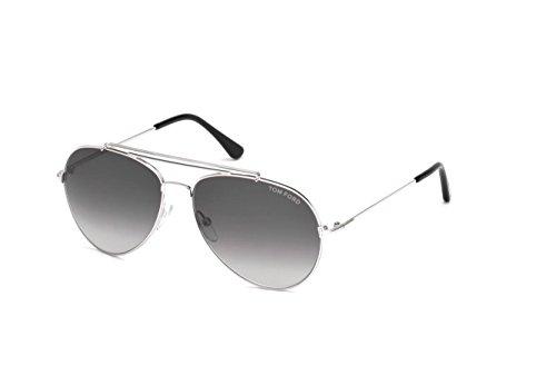 Sunglasses Tom Ford INDIANA TF 497 FT 18B shiny rhodium / gradient - Sunglasses Tom Ford Gradient