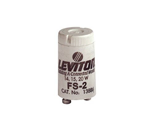 Leviton 13886 Fluorescent Starter, 15-20 Watts, FS-2 (Starter Fs25)