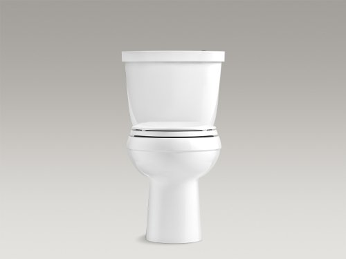 KOHLER K-6418-0 Cimarron Touchless Comfort Height 2-piece 1.28 GPF Elongated Toilet with...