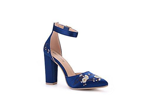 Heels Lady BLUE Ankle BERYL Platform Elegance 08 Mila D'Orsay Strap FL Classic Lady AUROqw
