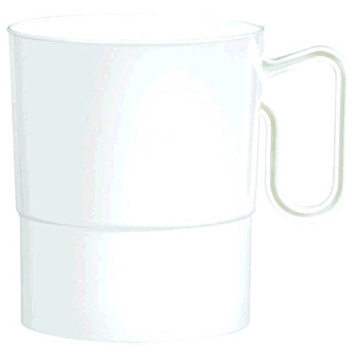 Amscan Hot and Warm Coffee and Tea Plastic Cup Party Drinkware, Reusable, White, 8 Oz, Pack of 20. Supplies (120 Piece)