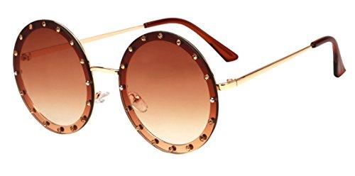 redondas ultravioleta sol HD Unisex Color2 Fashion Tide Gafas Gafas Polaroid de anti Sunglasses JYR RqgwA7vW